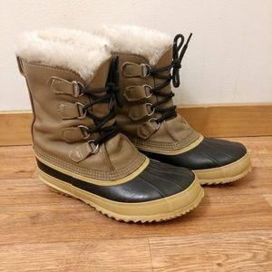 Sorel Tan Winter Boots Women's Size 8